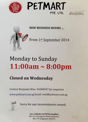 Opening Hours Image-Petmart